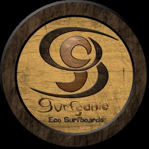 Surfganic Surfboards Logo Holz